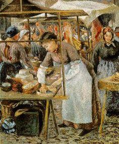 Camille Pissarro  ; día de mercado    Clic en imágenes para ver en grande   Pintor impresionista francés nacido en las Islas Vírgenes , e...