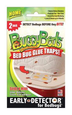BuggyBeds 70249 Glue Trap Bed Bug Detector, Pack Of 2