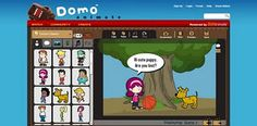 easy to use online animation program that can be used with elementary or middle students to create animated stories.