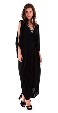EAONPLUS NEW Heather Kaftan Style V-Neck Maxi Dress in SIZES UK 14//16