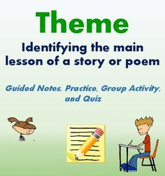 "This resources helps students learn how to identify the theme of a story or poem. No prep required!  It includes: - Smart Start: Editing - Quickwrite - Guided Notes - Guided Practice - Group Activity - Quiz / Demonstration of Learning  Resources: - ""War"" Lyrics - ""Help"" Lyrics - ""One Tribe"" Lyrics - ""Jack and Mollie""  Answer Key Included!"