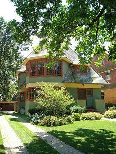 Thomas Gale House. Oak Park, Illinois. Frank Lloyd Wright. 1892