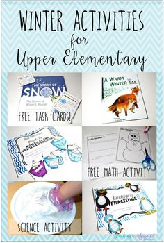 Winter Activities for Upper Elementary - Teaching with Jennifer Findley