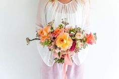 Bridal Posey Bouquet - Adore Weddings Fresh Flowers, Colorful Flowers, Dried Flowers, Wild Grass, Ribbon Colors, Classic White, Flower Vases, Bouquets, Bloom