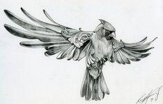 BIRD Tattoo pássaro