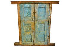 Antique Blue Wood Shutters