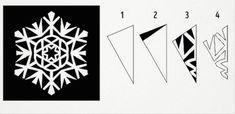 Végy egy papírlapot, ollót és ezt a másolómintát... Biztos vagyok benne, hogy egy órán belül kétségtelenül újévi hangulatod lesz! - Bidista.com - A TippLista! Snowflake Template, Snowflake Pattern, Christmas Crafts For Toddlers, Toddler Crafts, Types Of Textiles, Merry Christmas, Xmas, Paper Snowflakes, Suncatchers