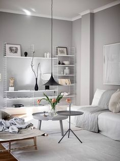 Best of Nordic Design's Most Beautiful Living Rooms - Nordic Design Beautiful Living Rooms, Cozy Living Rooms, Living Room Interior, Living Room Decor, Living Area, Dining Room, Living Room Essentials, Decor Scandinavian, Light Grey Walls