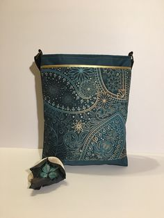 Handmade in Ireland · Golden green paisley crossbody purse Tribal style  Beautiful gift for mother  830c1286aec8a