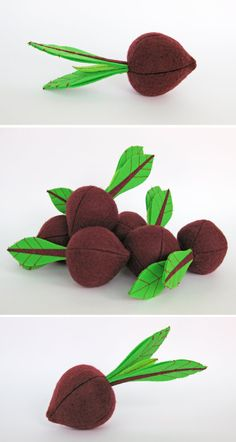 Felt Food Beet 1 pc Realistic Toy Pretend Play Food for by MyFruit $6