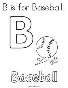 baseball coloring pages for preschoolers | Basketball Coloring Page - Tracing - Twisty Noodle ...