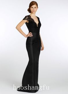 Noir by Lazaro Fall 2013 Collection Find this Dress Black Alencon lace  bridesmaid gown 4dce378aa1a