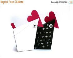 Easter Printable Animal Gift Boxes Gift Bag  Cute Hens Boxes