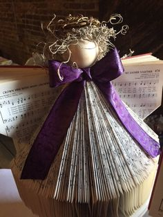 Hymnal Angel by HarmanyCreations on Etsy