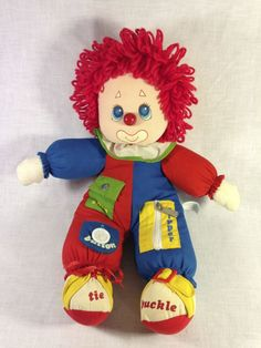 Activity Learning Clown (Amtoy). I used to love the sound his nose made when you gently pushed it into his firm-foam head, lol.