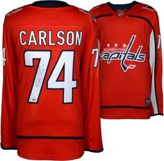 27e8e539a John Carlson Washington Capitals Autographed Red Fanatics Breakaway Jersey  National Hockey League