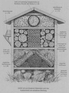 Schöne Erklärung, welche Abschnitte für welche Insekten vorgesehen sind.