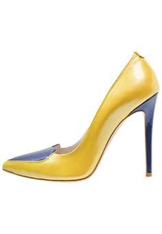 Fersengold - DÜSSELDORF - Czółenka - gelb/blau