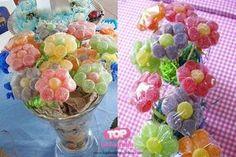Como fazer flor de jujuba - Lembrancinha com bala de goma 7