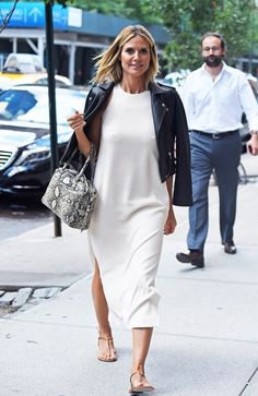 Heidi Klum com Vestido Midi