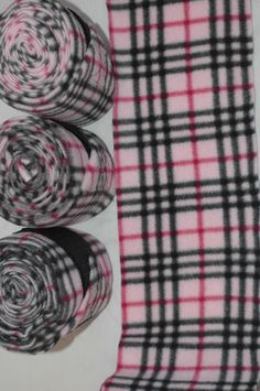 Polo Wraps - Pink and Black Plaid. $20.00, via Etsy.     ^^I want these. a lot :D