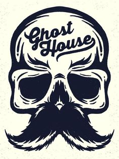 Ghost House Illustration by Rick Calzi, via Behance