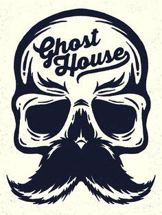 Ghost House Illustration on Behance #illustration #design | caferacerpasion.com