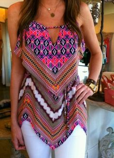 See more V-Neck Tiki Tank Top