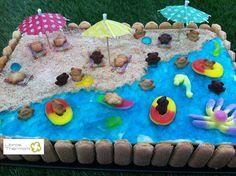 Tarta Playa de galletas y crema