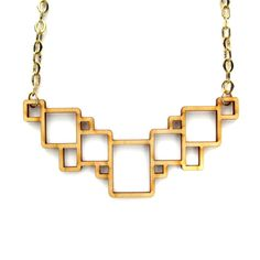Squares Necklace Birch