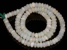 #2175 Natural Ethiopian Welo Opal Gemstone Rondelle Plain Beads 76 Ct. Strand