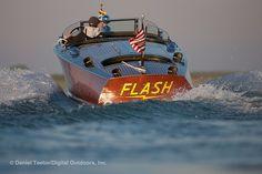 Triple-cockpit Wooden Boat D1259-040 by danteetor, via Flickr