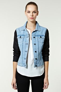 fresh take on the classic jean jacket. yes!