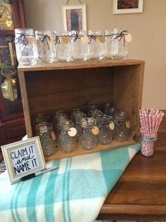Falling In Love Bridal Shower drink station