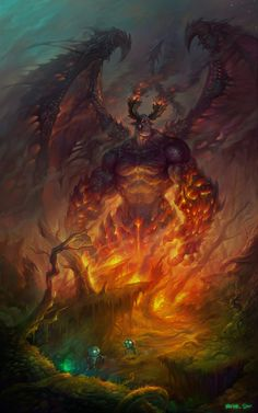 :: Creatures of the Otherworlds and Worldly horrors. Demon Art, Fantasy Demon, Ange Demon, Fantasy Monster, Fantasy Warrior, Monster Art, Dark Fantasy Art, Fantasy Artwork, Magical Creatures