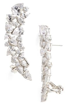 Nadri Cubic Zirconia Linear Stud Earrings available at #Nordstrom