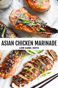 Recipes Asian *NEW* Take one bite, and I guarantee that Asian chicken marinade will become one of your favorite new low carb recipes! Even for a grilled recipe, this one is extra sizzling! Asian Marinade For Chicken, Chicken Marinade Recipes, Low Carb Chicken Recipes, Low Carb Recipes, Cooking Recipes, Healthy Recipes, Vegetarian Recipes, Asian Marinade Recipe, Marinades For Chicken