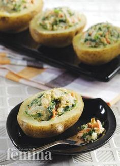 Veggie Salad in Potato Cups Femina