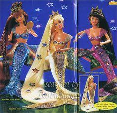 Jewel Hair Mermaid (1995) Barbie, Midge and Teresa. I had Midge!