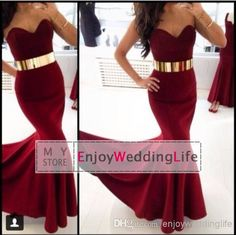 Cheap Prom Dresses - Discount Dark Red Satin Mermaid Prom Dresses Floor Length Online with $102.26/Piece | DHgate