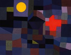 "Paul Klee, ""Fire at Full Moon"", 1933, Museum Folkwang, Essen, Germany."