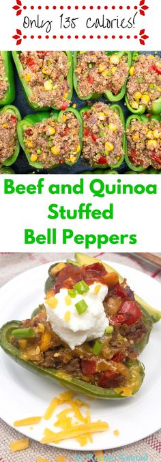 Beef and Quinoa Stuffed Bell Peppers | Recipe Nomad