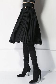 Minimalistisch / Hakama Plissee Midi-Rock / Origami Skirt / Mute Joanne Lu 2015 / Projekt-Samstag