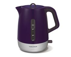 Morphy Richards 101208 Plum Chroma Jug Kettle Our Plum Chroma plastic jug kettle with Chrome trim provides you with a stylish finish Plastic Jugs, Electrical Appliances, Design Moderne, Small Kitchen Appliances, Gift List, Innovation Design, Plum, Household, Kettles