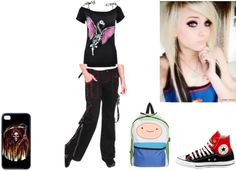 """""""school"""" by madelynn-hefner ❤ liked on Polyvore"""