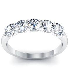 Diamond 5 Stone Ring with U Setting
