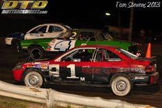 Michael Sobschak promoting Racers Classifieds in Merrittville Speedway Enduro!