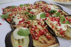 Gourmet Chick » Blog Archive » How to make Ottolenghi's eggplant and pomegranate salad