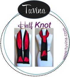 Half Knot Tuvina by Balintina. Black Mink Faux with Velvet Insert.  www.tuvina.com Patents Pending. Handmade in USA