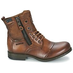Boots / Chaussures montantes Bunker SARA ZIP Tan 350x350 Bike Boots, Combat Boots, Tanker Boots, Rugged Style, Men's Shoes, Cool Outfits, Ford, Footwear, Mens Fashion